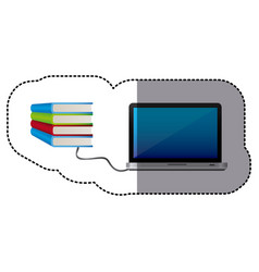 knowledge online in computer books vector image