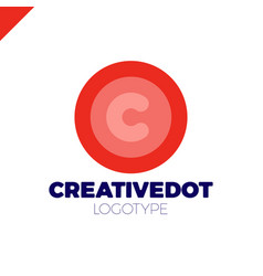 letter c creative circle icon logotype dot vector image