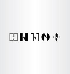 letter n set collection black icon logo elements vector image