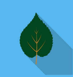 Linden leaf icon in flat style for web vector