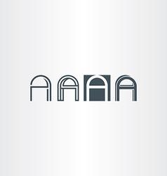 logo letter a set icon elements vector image