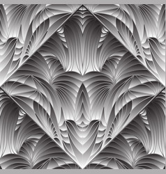 modern abstract gray 3d seamless pattern vector image