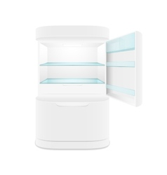 Modern two door white refrigerator vector