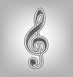 Music violin clef sign g-clef treble clef vector