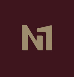 n with 1 logo vector image