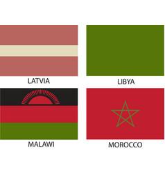 national flags symbol eps 10 vintage vector image