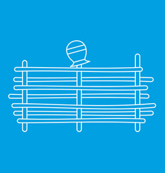 Palisade icon outline style vector