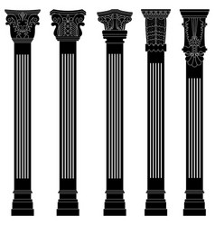 pillar column antique ancient old roman greek vector image