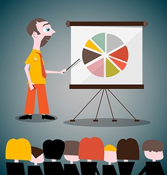 Presentation with Businessman vector image