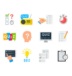 quiz game icon vector image