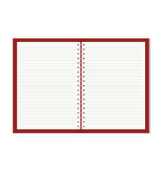 realistic opened copybook with metallic silver vector image