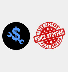 Repair price icon and distress price vector