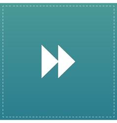 Rewind forward icon vector