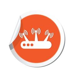 Router orange label vector