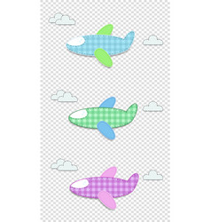set of cute baby clip art airplanes for scrapbook vector image