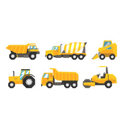 Set of industrial transport using on road vector