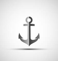 Ship anchor logo vector