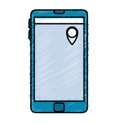 Smartphone device with gps pin vector