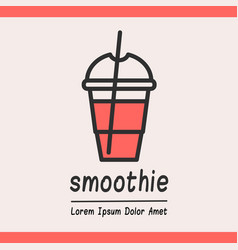 Smoothie logotype template vector