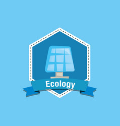 solar panel and ecology design vector image