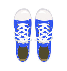 Sports shoes gym shoes keds blue colors for vector