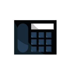 telephone office work business equipment icon vector image