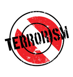 Terrorism rubber stamp vector