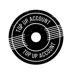 Top Up Account rubber stamp vector