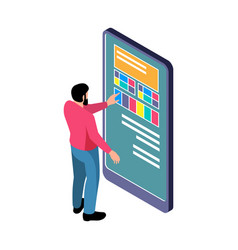 Touch screen panel vector
