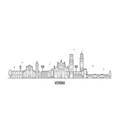 Verona skyline italy city with buildings vector