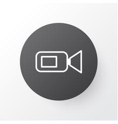 video camera icon symbol premium quality isolated vector image
