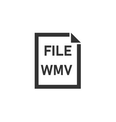 wmv file icon flat vector image