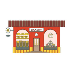 baking shop cartoon icon in flat style bakery vector image
