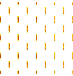 candy iin yellow wrap pattern vector image vector image