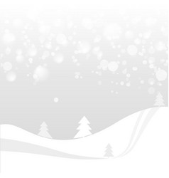 natural colored abstract landscape with snow vector image