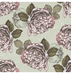 old style roses seamless2 vector image