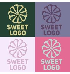 Sweet logo vector image