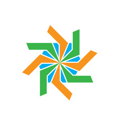 abstract business swirl logo image vector image