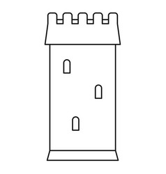 Ancient battle tower icon outline style vector