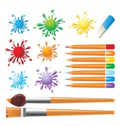 art tools set vector image vector image