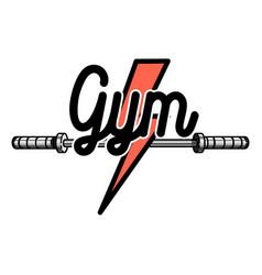 color vintage gym emblem vector image vector image