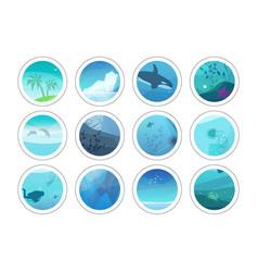 nature painting circles vector image