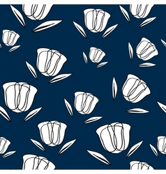 Seamless Pattern With Abstract Tulips vector image