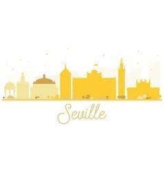 Seville City skyline golden silhouette vector image vector image
