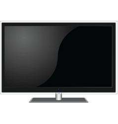 widescreen TV vector image