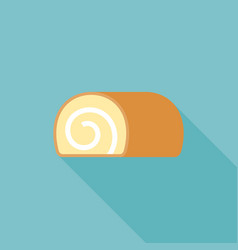 jam roll icon flat design with long shadow vector image