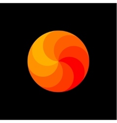 Scope rainbow in shades of orange spiral swirling vector image vector image