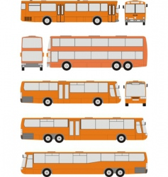 vehicle bus shapes vector image
