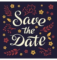 Wedding invitation 5 vector image vector image