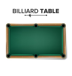 billiard table classic green pool table vector image